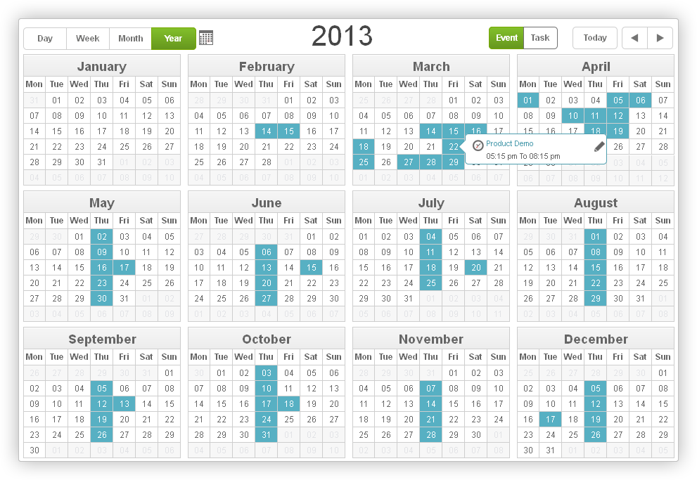 Yearly Task Management