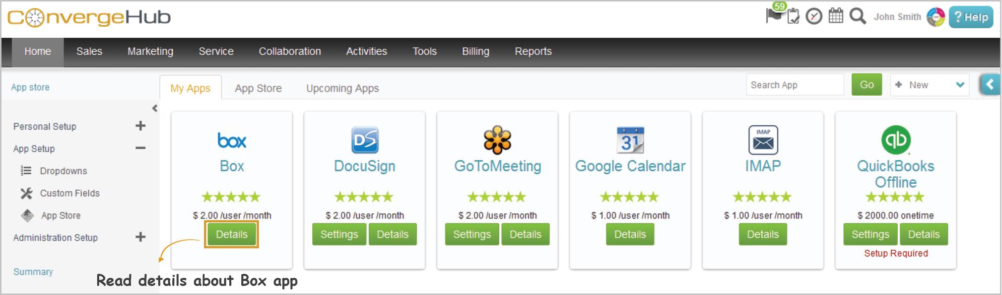 Boxapp in ConvergeHub App Store