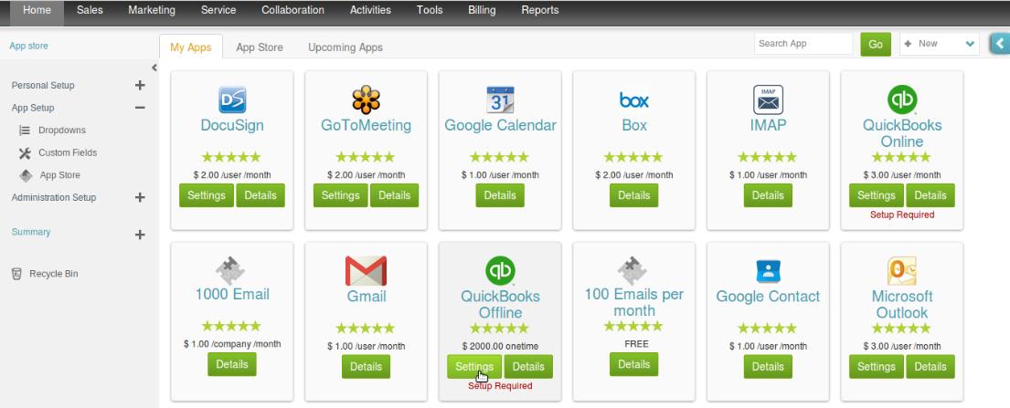 Click on Get App Button to Bring QuickBooks Offline