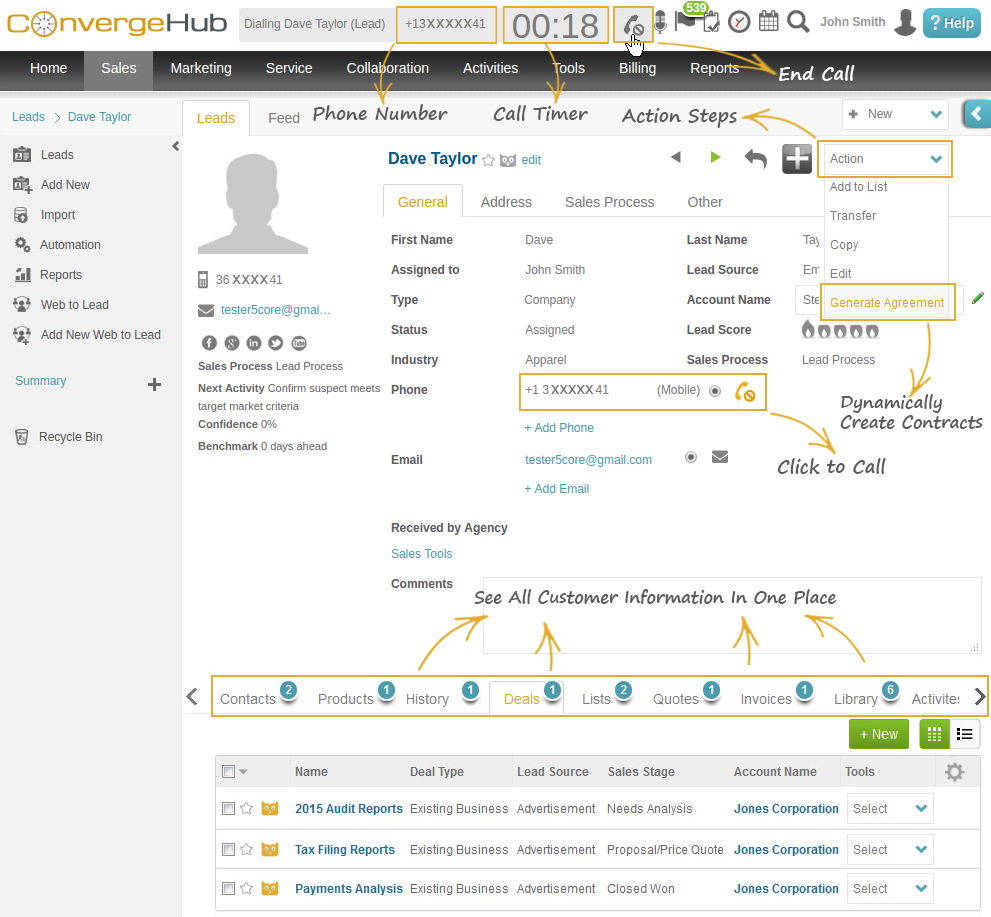 RingCentral Integrated ConvergeHub CRM