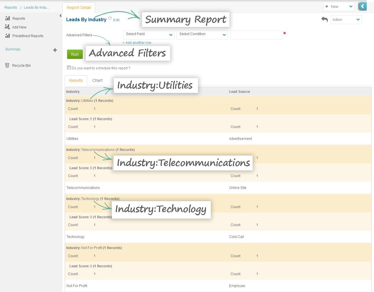 Summary Report - ConvergeHub CRM
