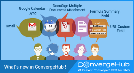 What is new in ConvergeHub
