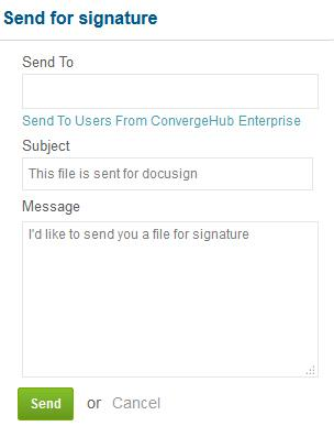 Docusign option to view