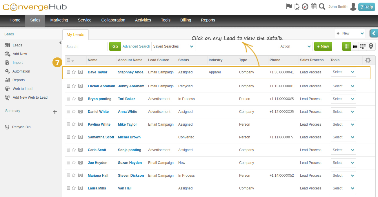 Skype Integration with ConvergeHub CRM Step 7